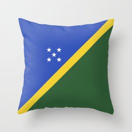 Solomon Islands flag emblem Throw Pillow
