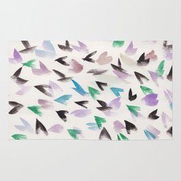 6  | Watercolor Patterns Abstract 181214 Rug