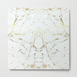 Stone Gold Marble Metal Print