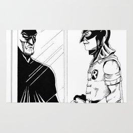 Robin in Bat Cowl Rug
