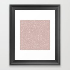 PolkaDots-Peach on Rose Framed Art Print