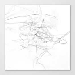 """""""Whatever, Oh Well"""" Black and White Abstract Design Canvas Print"""