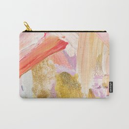 Shiloh - Abstract Contemporary Brushstrokes Carry-All Pouch