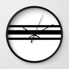 Line B&W Wall Clock