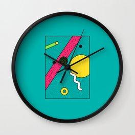 Memphis Aqua Wall Clock