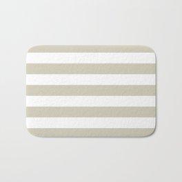 Beach Sand and White Stripes Bath Mat