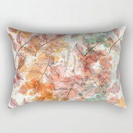 Watercolor autum foliage Rectangular Pillow