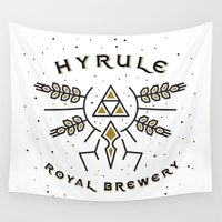 hyrule Wall Tapestries featuring Hyrule Royal Brewery by Tugrul Peker