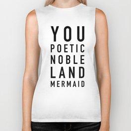 Poetic Noble Land Mermaid Biker Tank