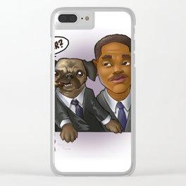 MEN IN BLACK Clear iPhone Case