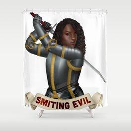 Paladin: Smiting Evil Shower Curtain
