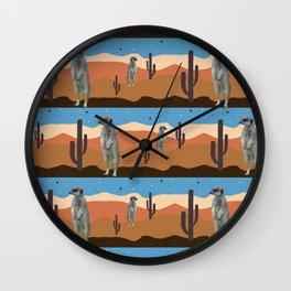 Desert Meercats Wall Clock