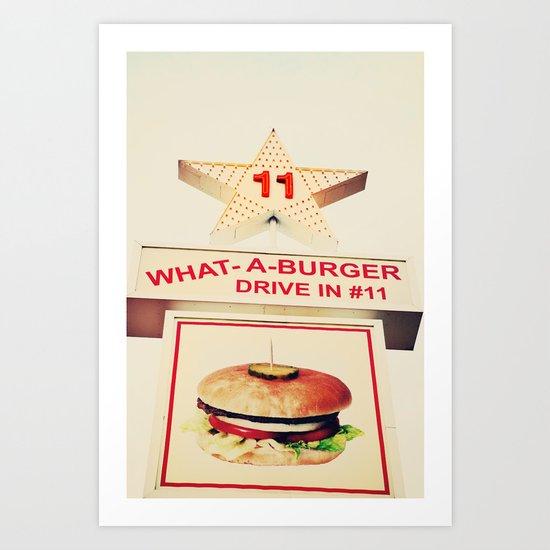 What A Burger Art Print