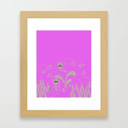 There is monsters in my head... Framed Art Print