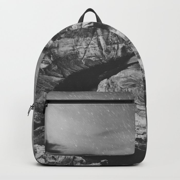 Southwest Starry Night Black and White Backpack