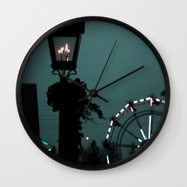 The lonely night Ferris-wheel Wall Clock
