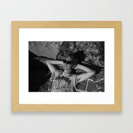 la dane Framed Art Print
