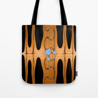 copper Tote Bags featuring copper by Maureen Popdan