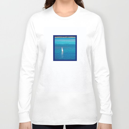 Perfect Blue Sailing Day Long Sleeve T-shirt