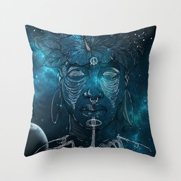 Connected. Throw Pillow