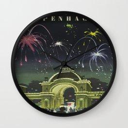 Vintage poster - Copenhagen, Denmark Wall Clock