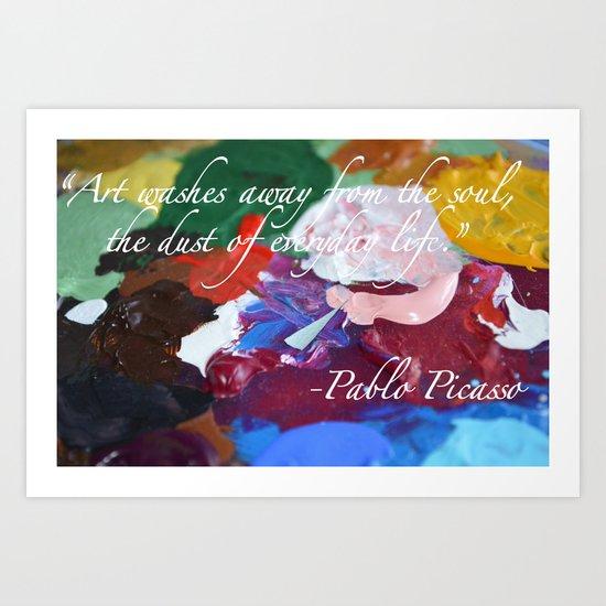 Paint like Picasso. Art Print