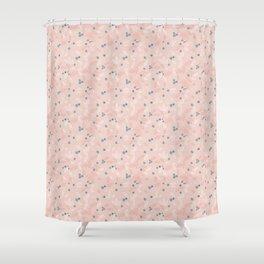 Wild Blueberries (pink) Shower Curtain