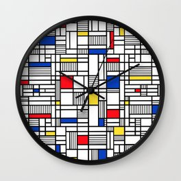 Map Lines Mond Wall Clock