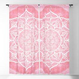 Bohemian Blush Pink & Teal Mandala Blackout Curtain