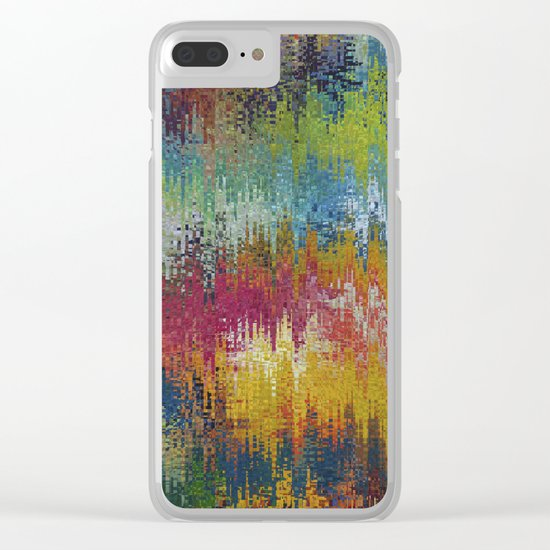 Abstract 192 Clear iPhone Case