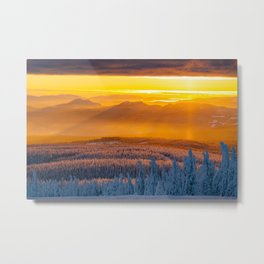 Serwa's Mountain Sunset Metal Print