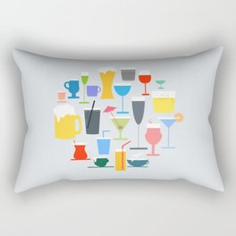 Time to Drink Rectangular Pillow