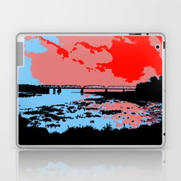 Railway bridge Haparanda/Tornio color Laptop & iPad Skin