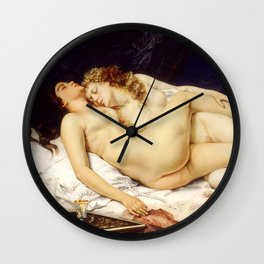 """Gustave Courbet """"The Sleep - Le Sommeil - Sleepers"""" Wall Clock"""