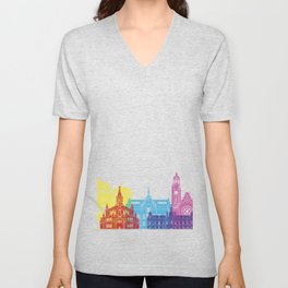 Malmo skyline pop Unisex V-Neck
