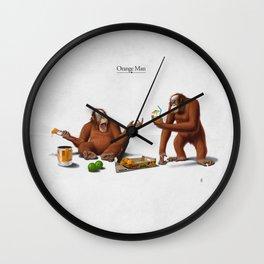 Orange Man Wall Clock
