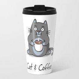 Cat & Coffee Travel Mug