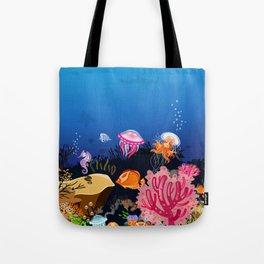 Beautiful Coral Reef Animals Tote Bag