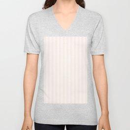 Pink Linen Stripe Unisex V-Neck