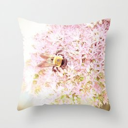 Nature of a Bee Throw Pillow