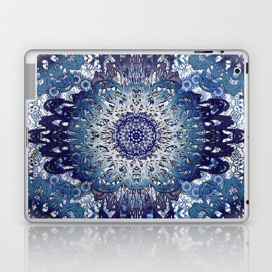 Indigo Lace Mandalas Laptop & iPad Skin