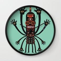 Les danses de Mars (blue) Wall Clock