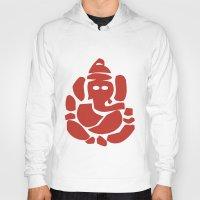 hindu Hoodies featuring Ganesh - Hindu God by ialbert
