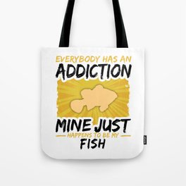 Fish Addiction Funny Farmer Animal Lover Tote Bag