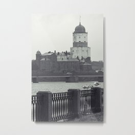 Vyborg Castle Gloom Metal Print