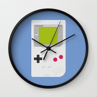 gameboy Wall Clocks featuring #54 Gameboy by MNML Thing