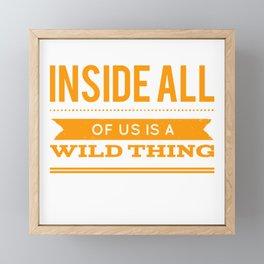 Where Is Your Wild Side Framed Mini Art Print