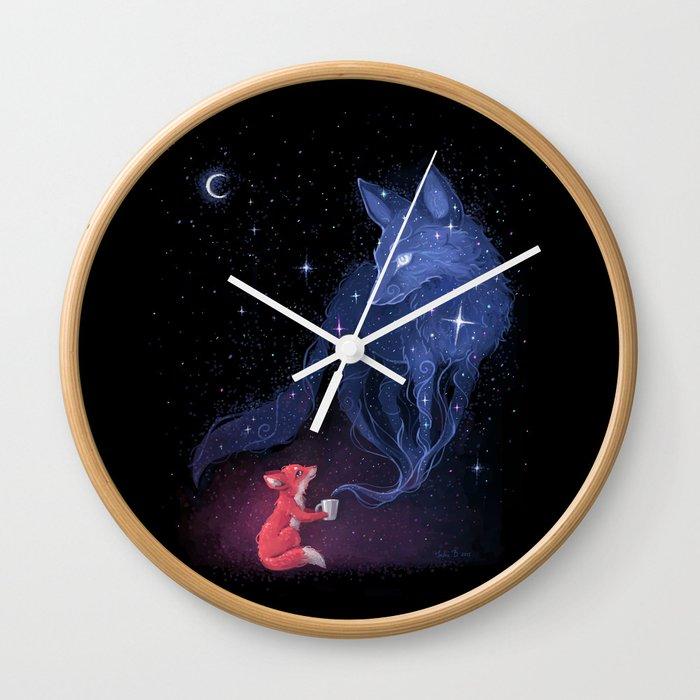 Celestial Wall Clock By Freeminds Society6