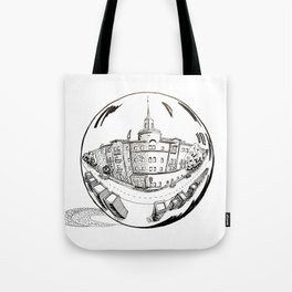 City in a glass ball . Art Tote Bag