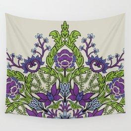 Spring Garden Mandala in Ultra Violet Wall Tapestry